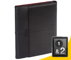 Portfólio de Couro Zierra™ para iPad® 1 e 2 (Preto/Vinho) da Targus