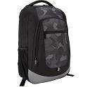 Backpack - Mochila modelo Shasta, Negro-Camuflaje, 16